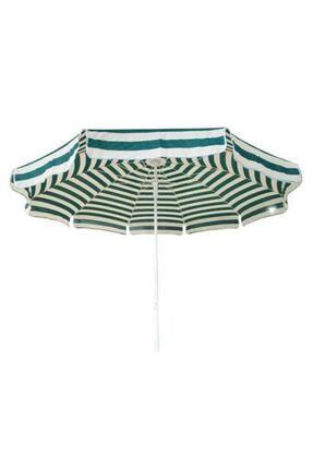 Pineapple Kaliteli Yeşil Çizgili Plaj Şemsiyesi Şezlong Şemsiyesi Havuz Bahçe Şemsiyesi 2 Metre 10 Telli 1