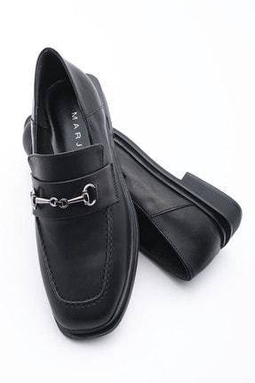 Marjin Kadın Loafer Ayakkabı Racessiyah 0