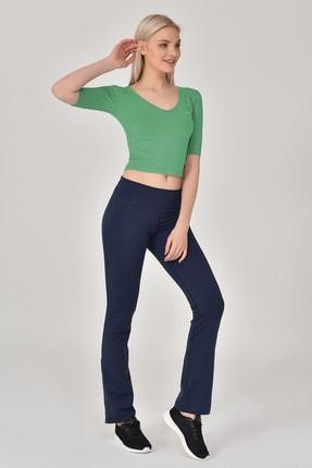 bilcee Kadın Yeşil Yoga T-shırt Gs-8105 2