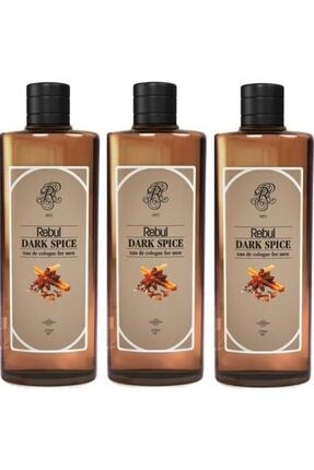 Rebul Dark Spice Kolonya 270ml X 3 Adet (CAM ŞİŞE) 0