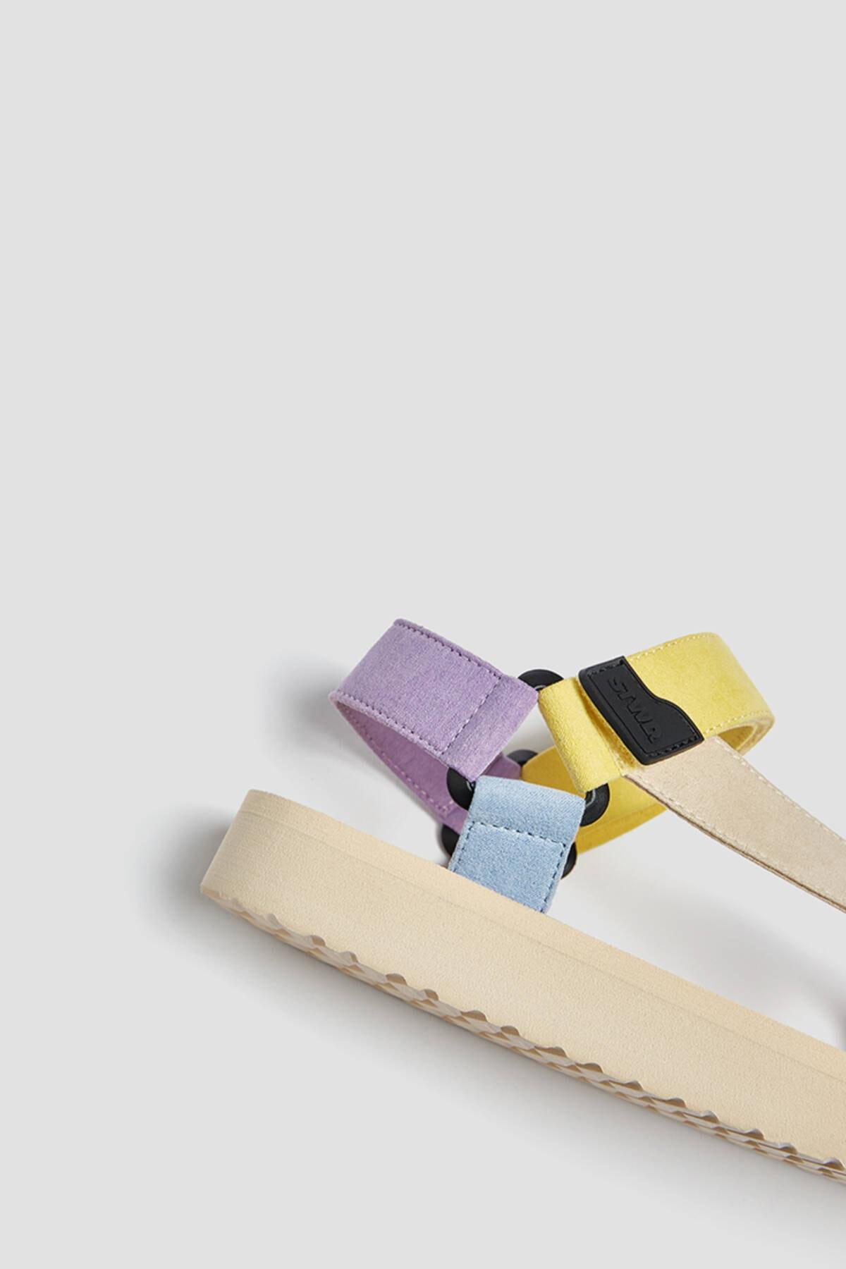 Pull & Bear Kadın Çok Renkli Çok Renkli Spor Sandalet 11708740 4