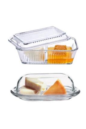 Paşabahçe Bölmeli Tereyağlık Ballık Ve Basic Tereyağlık Peynir Kabı 0