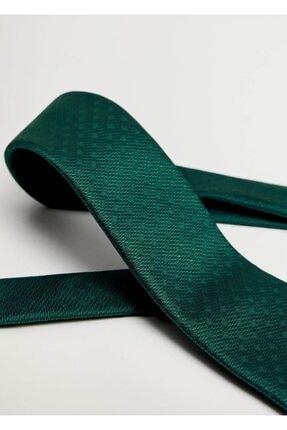 Mango Erkek Yeşil Geometrik Baskılı Kravat 2