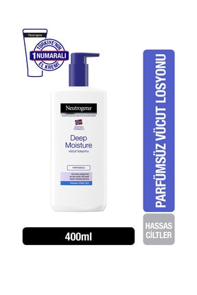 Neutrogena Deep Moisture Parfümsüz Vücut Losyonu 400 Ml 1