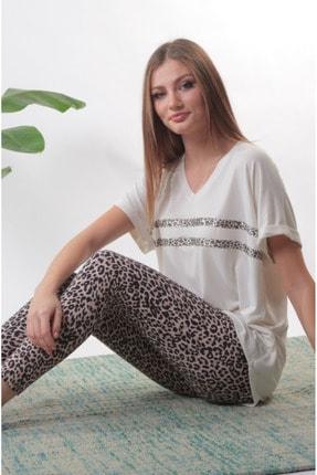 Pamuk Pamuk Kadın Ekru Pijama Takımı 2