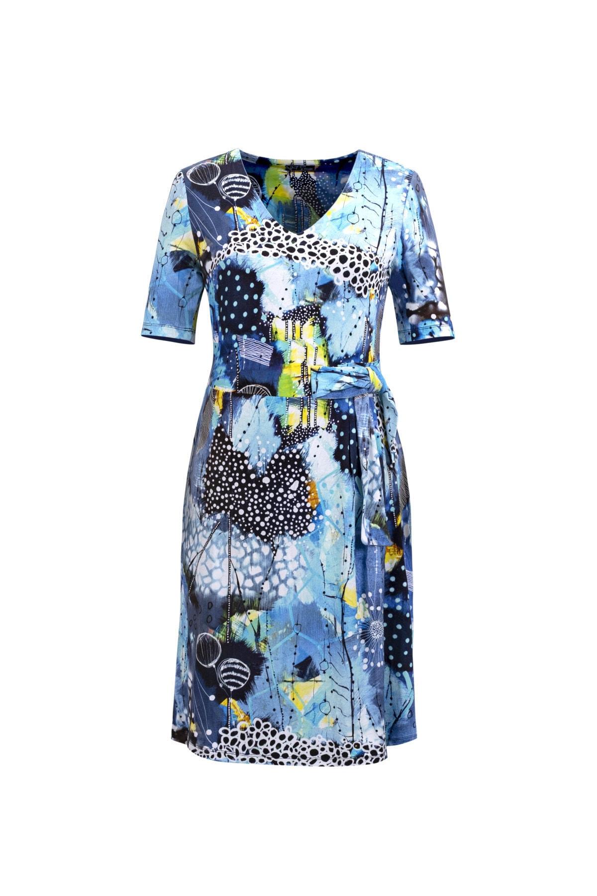 Kemer Detaylı Kısa Kollu Elbise