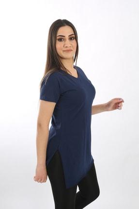 SARAMODEX V Yaka Düz Renk Basic Tişört 0
