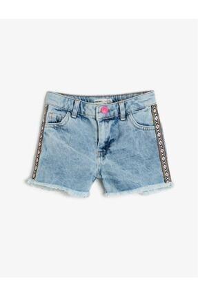 Koton Kız Çocuk Mavi Jean Şort 0