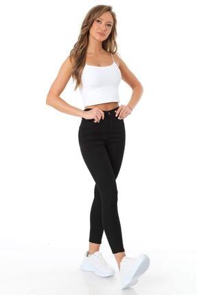 ZİNCiRMODA Kadın Siyah Beş Cepli Yüksek Bel Pantolon 1