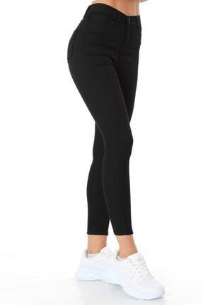 ZİNCiRMODA Kadın Siyah Beş Cepli Yüksek Bel Pantolon 2