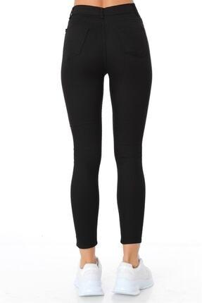 ZİNCiRMODA Kadın Siyah Beş Cepli Yüksek Bel Pantolon 4