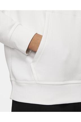 Nike Unisex Beyaz Mens Sportswear Club Fleece Pull Over Hoodie 826433-100 Sweatshirt 3