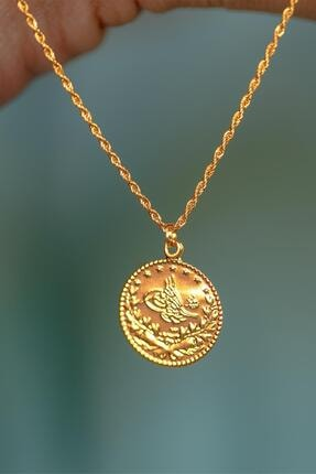 Bayar Gold 14 Ayar Altın Tuğralı Halat Kolye 2