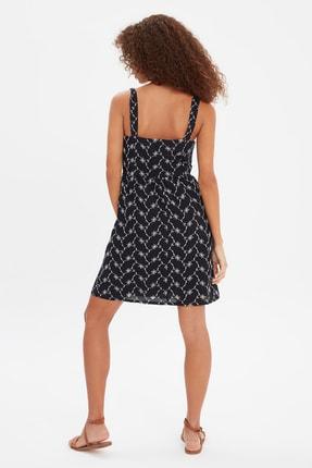 TRENDYOLMİLLA Siyah Brode Elbise TWOSS21EL2073 4