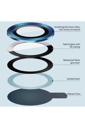 Cep prime Iphone 12 Pro Uyumlu Max ???4 Katmanlı Metal Nano Sistem Tam Koruma Sistem Lens Gold 2