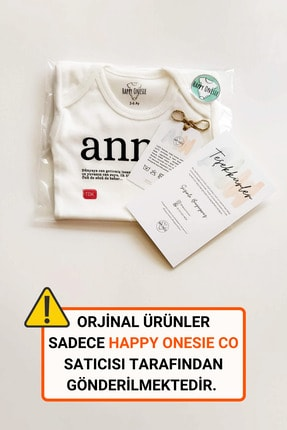 Happy Onesie Co Unisex Bebek Beyaz Doğum Günün Kutlu Olsun Babacığım Çıtçıtlı Body 1