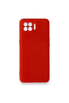 Oppo Reno 4 Lite Uyumlu Içi Kadife Yumuşak Silikon Kılıf Kırmızı 0