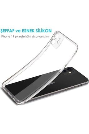 Teleface Iphone 11 Şeffaf Kılıf Kamera Korumalı Şarj Tıpalı 1