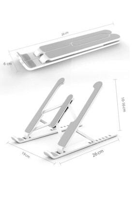 Universal Detayteknoloji Notebook Laptop Standı Özel Yükseltici Aparat Alüminyum Görüntü 2