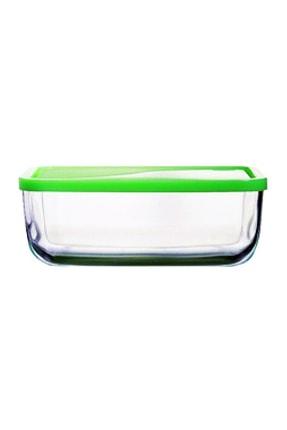Paşabahçe Snowbox Cam Yeşil Saklama Kabı 1200 cc 0