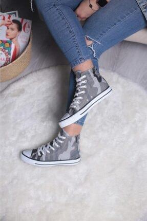Espardile Unisex Kamuflaj Desen Uzun Spor Ayakkabı 1