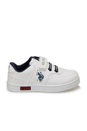 US Polo Assn Erkek Çocuk Beyaz Sneaker 100909787 1