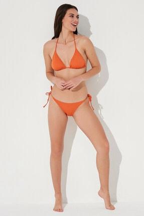 Penti Kadın Turuncu Basic Üçgen Bikini Üstü 4