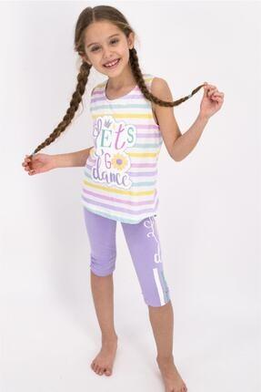 Rolypoly Kız Çocuk Bej Let's Go Dance Askılı Tayt Takım 0