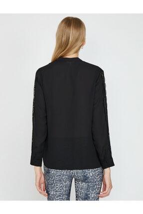 Koton Kadın Siyah Gömlek 0KAK68866PW 4