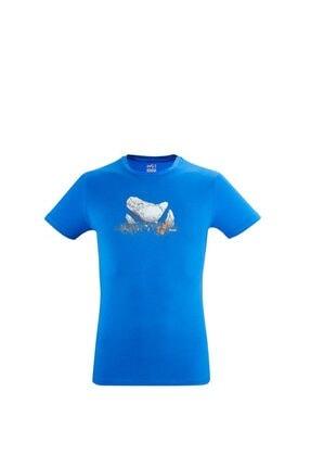 Picture of Erkek Mavi Baskılı Tişört