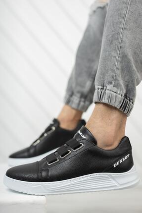Dunlop Erkek Siyah Lastikli Spor Ayakkabı 1207 1