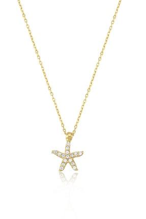 Deniz Yıldızı 14 Ayar Altın Kolye Markiz00088