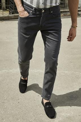 Sateen Men Erkek Antrasit Yıkamalı Pamuk Pantolon 0