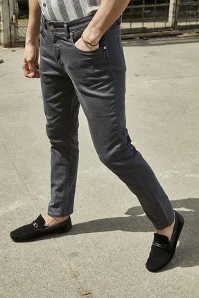 Sateen Men Erkek Antrasit Yıkamalı Pamuk Pantolon 1
