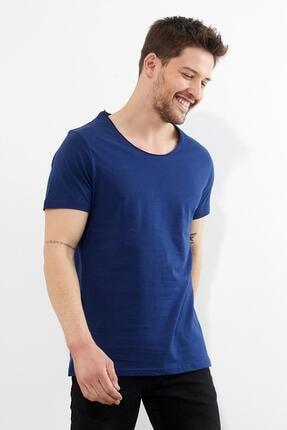 Figo Erkek Lacivert Bisiklet Yaka Basic T-shirt 2