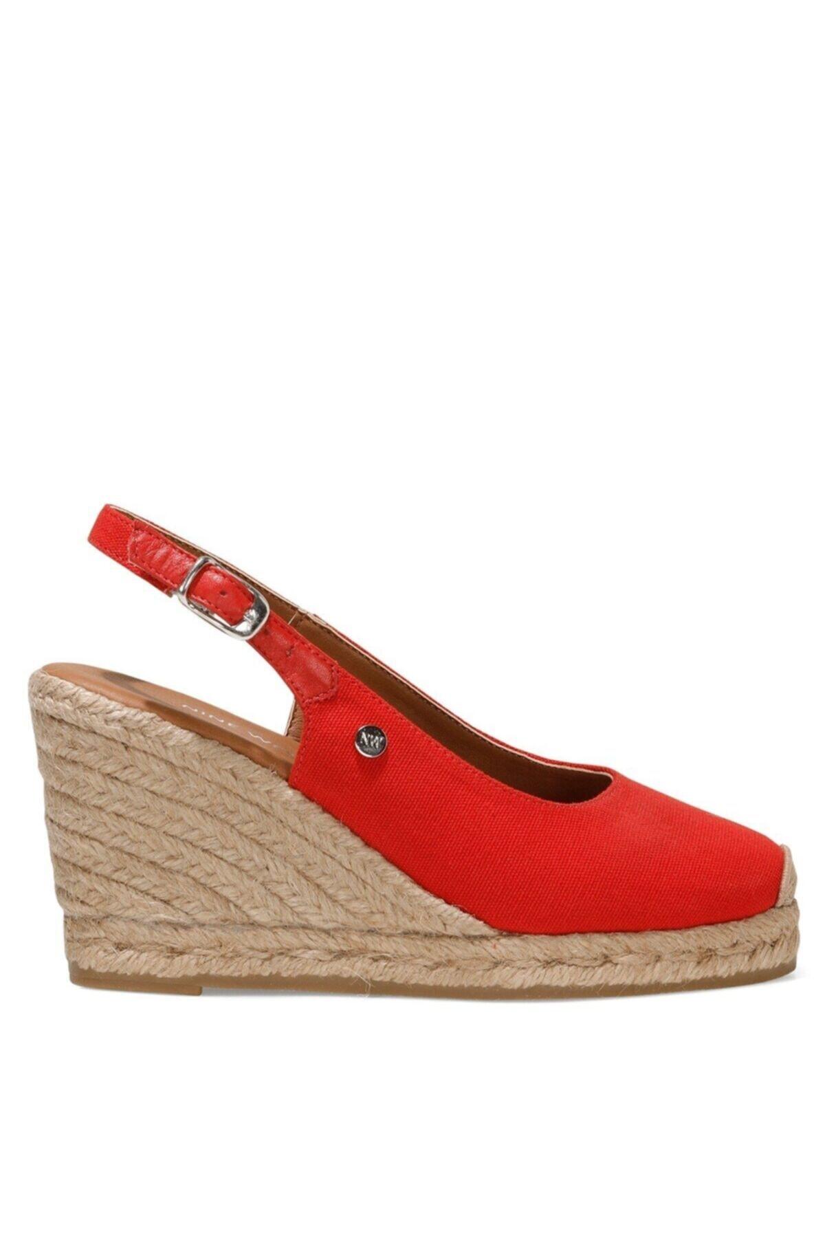 PUJICO 1FX Kırmızı Kadın Dolgu Topuklu Sandalet 101030691