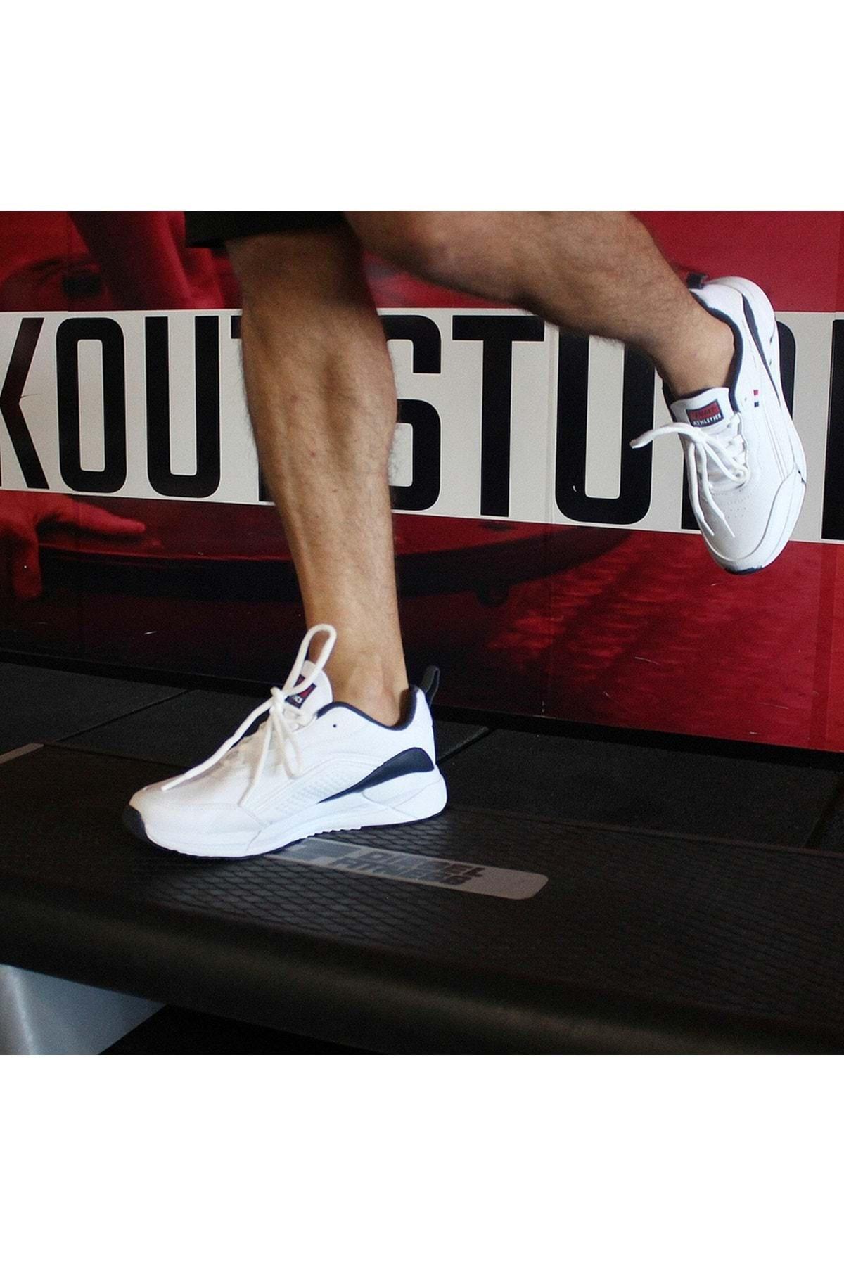 Jump Erkek Ortopedik Tabanlı Spor Ayakkabısı - Beyaz - Lacivert