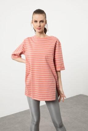 Arma Life Kadın Gül Çizgili Duble Kol T-shirt 1