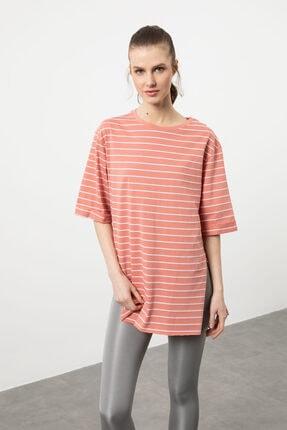 Arma Life Kadın Gül Çizgili Duble Kol T-shirt 2
