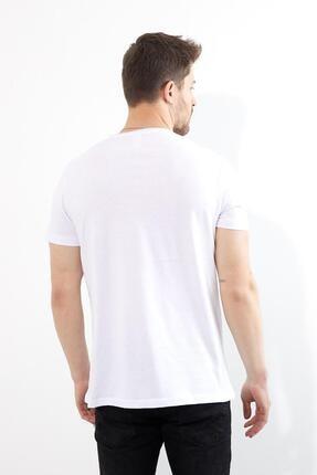 Figo Erkek BeyazBisiklet Yaka Basic T-shirt 3