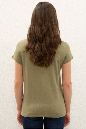 US Polo Assn Yesıl Kadın T-Shirt 2