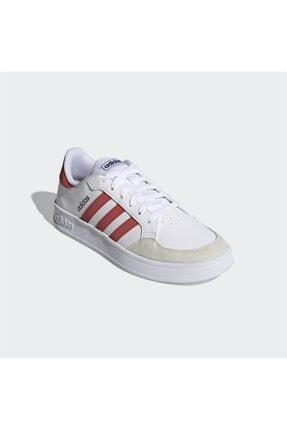 adidas Erkek Beyaz Bağcıklı Günlük Spor Ayakkabı Breaknet 4