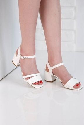 Beyaz Topuklu Ayakkabı P25394S6155