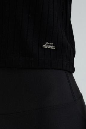 Polo State Kadın U Yaka T-shirt Siyah 3