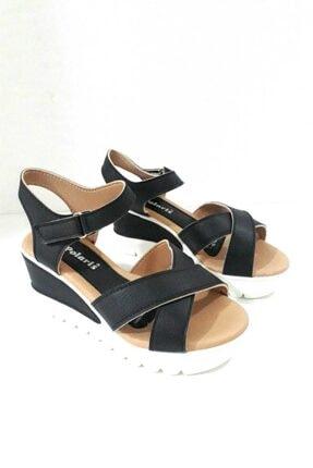 Polaris Kadın Siyah Sandalet 0