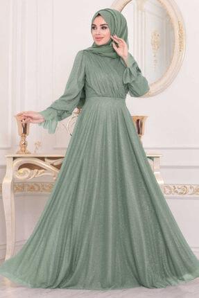 Tesettürlü Abiye Elbiseler - Mint Tesettür Abiye Elbise 22202mınt ARM-22202|00205_Koyu Lila