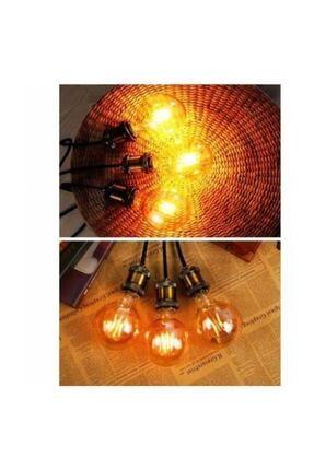 EDİSON G95 Flamanlı Rustik 6w Led Ampul 10'lu Dekoratif Vintage Aydınlatma 1