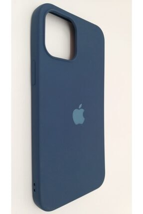 Pirok Store Iphone 12 Promax 6.7 Lacivert Lansman Içi Kadife Logolu Silikon Kılıf 0