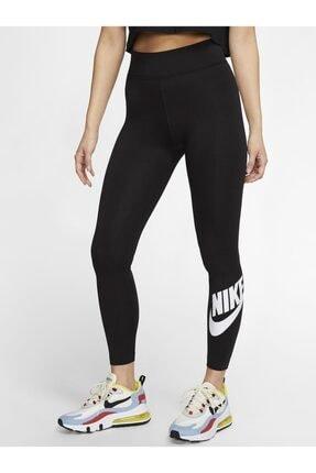 Nike Sportswear Yüksek Belli Siyah Tayt 2
