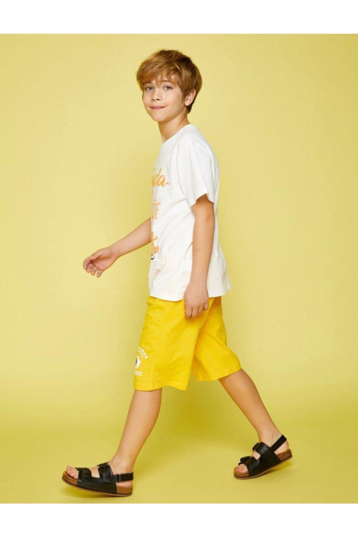 Erkek Çocuk Sarı Şort & Bermuda